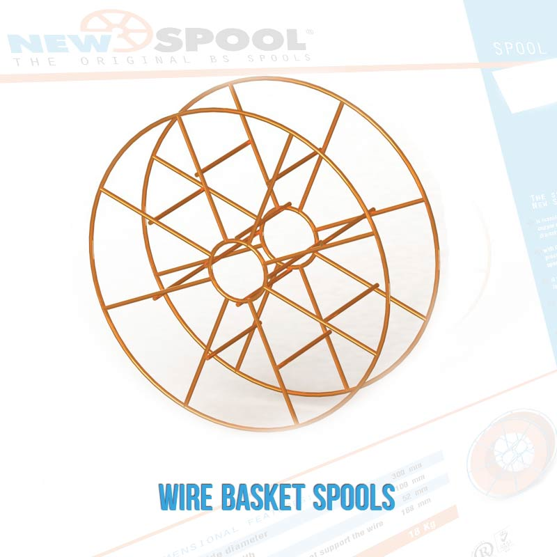 WIRE BASKET SPOOLS
